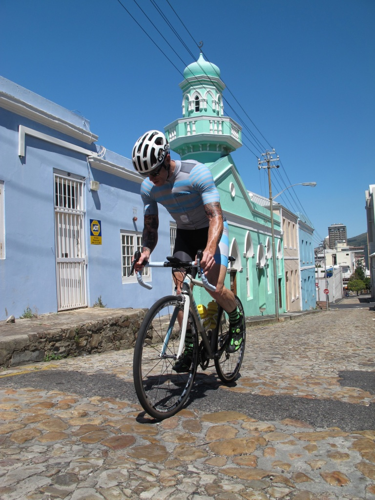 Photo Credit: Ingo Deutschländer. Sean Riding the cobbles of Bo Kaap, Cape Town.