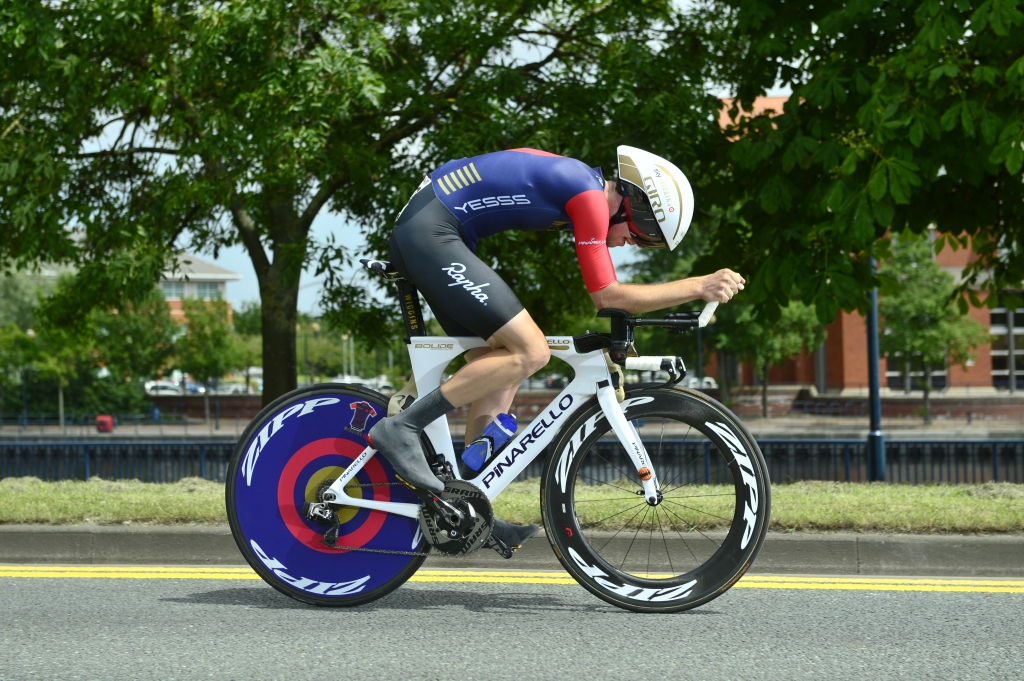 Picture by Allan McKenzie/SWpix.com - 23/06/2016 - Cycling - British Cycling National Championships - Time Trial - Stockton-upon-Tees, England - Team Wiggins' Scott Davies takes the win in the U23 time trials at Stockton.